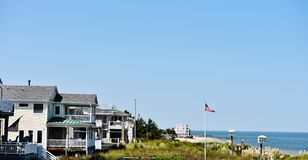 Estern shore usa virginia beach oceanview estates. There is starting point for visitots of Eastern Shore of USA after Maryland state , its Virginia state beach Royalty Free Stock Photography