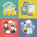 Esternalizzazione, analisi dei dati di web Analisi finanziaria Fotografie Stock