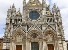 Esterni e dettagli della cattedrale di Siena, Siena, Italia Fotografia Stock Libera da Diritti