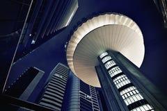 Esterni futuristici moderni degli edifici per uffici Immagini Stock Libere da Diritti