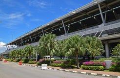 Esterno anteriore della facciata di Kota Kinabalu International Airport Fotografie Stock