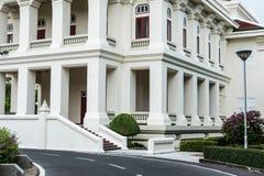 Esterno architettonico della costruzione tailandese di stile Immagine Stock