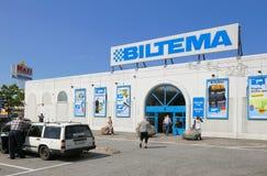 Esterno del deposito di Biltema Fotografia Stock