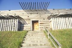Esterno del monumento nazionale forte di Stanwix, Roma NY fotografie stock libere da diritti