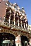 Esterno del Palau de la Musica a Barcellona Immagini Stock Libere da Diritti