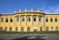 Esterno del palazzo che alloggia i bagni di thr Szechenyi a Budapest Fotografia Stock