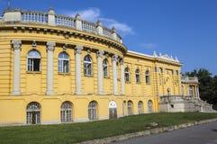 Esterno del palazzo che alloggia i bagni di thr Szechenyi a Budapest Immagini Stock