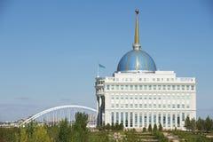Esterno del palazzo di presidente a Astana, il Kazakistan fotografia stock