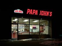 Esterno del ristorante di Papa John Fotografie Stock