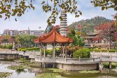 Esterno del tempio buddista di Sout Putuo a Xiamen, Cina Fotografia Stock