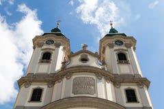 Esterno dell'alta chiesa Fotografia Stock