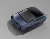Esterno dell'automobile elettrica autonoma su fondo grigio royalty illustrazione gratis