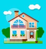 Esterno della casa suburbana royalty illustrazione gratis