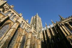 Esterno della cattedrale di Lincoln fotografia stock