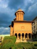 Esterno della chiesa di Kretzulescu a Bucarest Fotografia Stock
