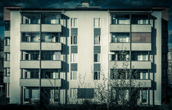 Esterno della costruzione di appartamento Fotografia Stock Libera da Diritti