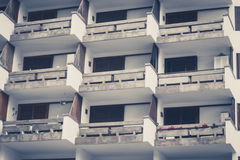 Esterno della costruzione di appartamento Fotografia Stock