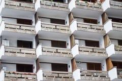 Esterno della costruzione di appartamento Immagine Stock