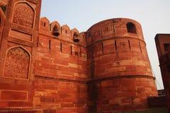 Esterno della fortificazione India di Agra Fotografia Stock Libera da Diritti