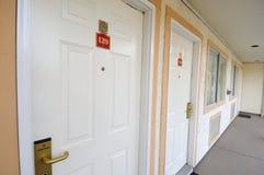 Esterno delle camere di albergo Fotografia Stock Libera da Diritti