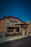 Esterno dello steakhouse della mucca texana Fotografia Stock