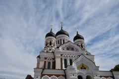 Esterno di Alexander Newski Cathedral, Tallinn Fotografia Stock Libera da Diritti