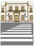 Esterno di costruzione illustrazione di stock