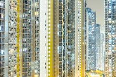 Esterno di edificio residenziale in Hong Kong Immagini Stock