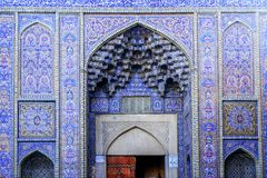 Esterno di Nasir al-Mulk Mosque Shiraz, Iran fotografia stock