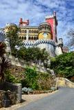 Esterno di Palacio da Pina, Sintra, Portogallo Fotografia Stock Libera da Diritti