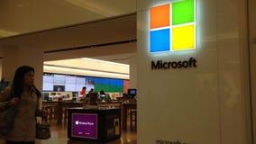 Esterno di un deposito di Microsoft video d archivio