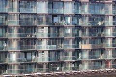 Esterno di una palazzina di appartamenti moderna Fotografia Stock Libera da Diritti