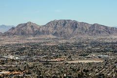 Esterno Las Vegas, NV delle catene montuose appena Fotografie Stock Libere da Diritti