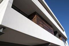 Esterno moderno dell'appartamento della casa a schiera Fotografia Stock