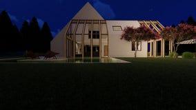 Esterno scandinavo moderno della casa illustrazione vettoriale