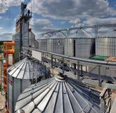 Esterno, stoccaggio e essiccazione di costruzione dei grani Fotografia Stock