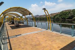 Estero Salado in the city of Guayaquil. Pedestrian walkway and park on the banks of Estero Salado in the city of Guayaquil Stock Images