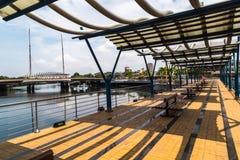 Estero Salado nella città di Guayaquil fotografia stock libera da diritti