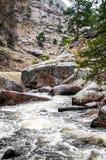 Estes公园科罗拉多落矶山脉河风景 库存照片