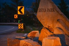 Estes Park City Entrance Stock Photo