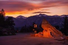 Estes Park Colorado. Getaway to Rocky Mountain National Park. Estes Park, Larimer County, Colorado, United States Stock Photography