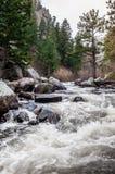 Estes Park Colorado Rocky Mountain-Fluss-Landschaft stockbilder