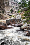 Estes Park Colorado Rocky Mountain-Fluss-Landschaft Stockfoto