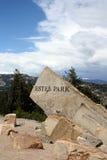 Estes Park rock Stock Image