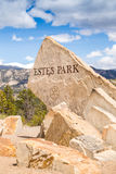 Estes Park sign Royalty Free Stock Photography