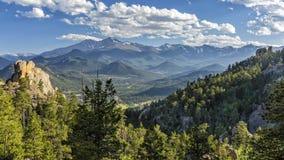 Estes Park Valley von Gem Lake Trail stockbild