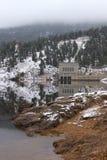 Estes Park Water Treatment Plant. Estes Park, Colorado's water treatment plant as the fog moves in stock photos
