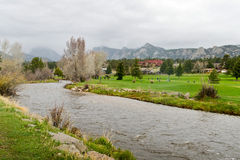 Estes Parkin with Big Thompson River Royalty Free Stock Image