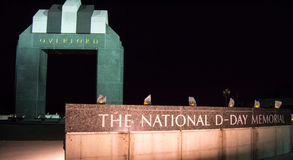 Estes Plaza and the Overlord Arch - National D-Day Memorial Royalty Free Stock Images