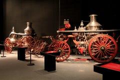 Estesa raccolta dei camion dei vigili del fuoco antichi, museo dello stato di Albany, New York, 2016 Immagine Stock
